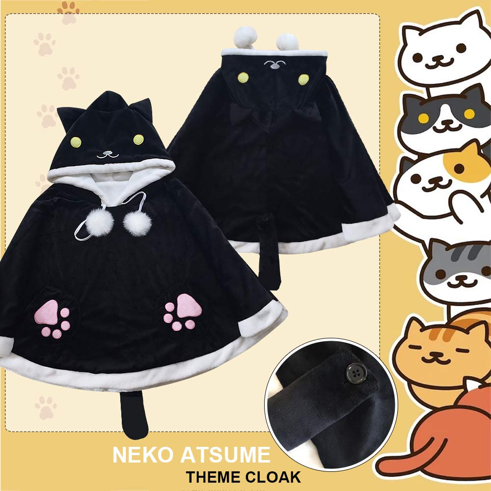 CORIRESHA Game Cat Hooded Cape