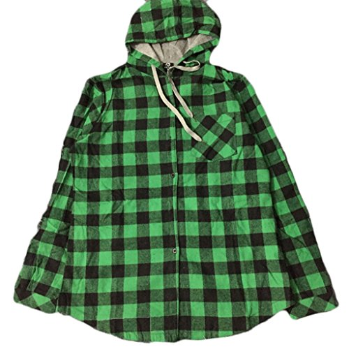 CORIRESHA Long Style Plaid Shirt