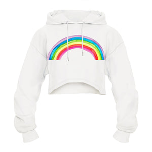 CORIRESHA Colorful Graffiti Rainbow Hoodie