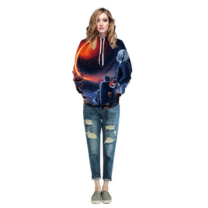 CORIRESHA Women's Space Black Hole Hoodie
