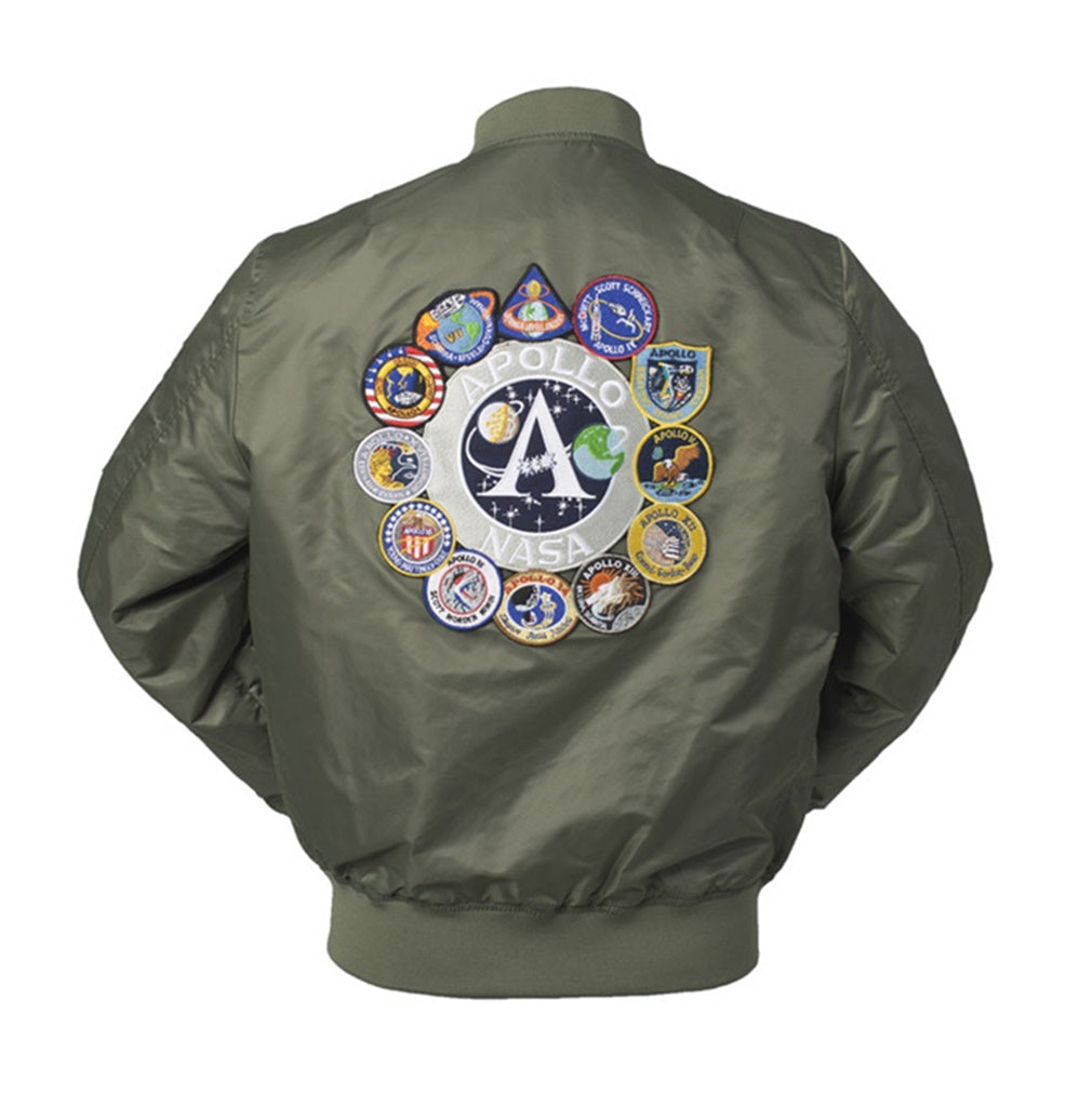 CORIRESHA Embroidery Apollo NASA Jacket