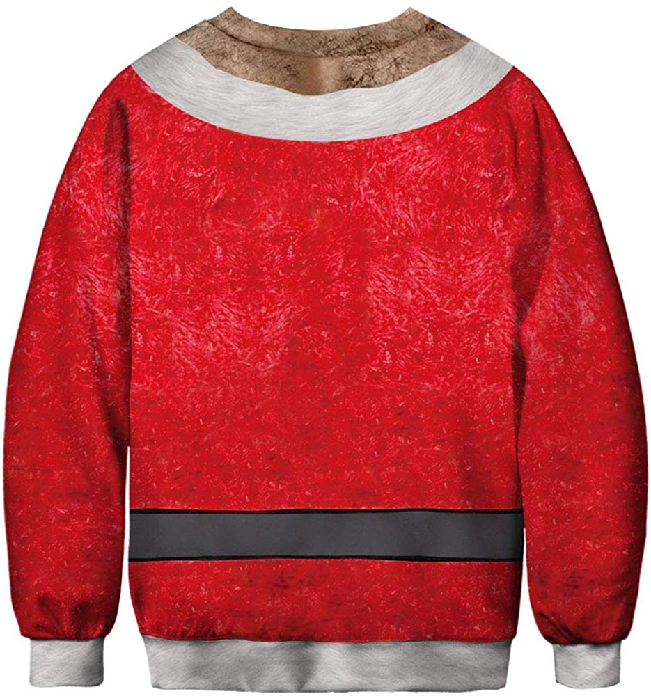 CORIRESHA Christmas Santa Claus Sweatshirt
