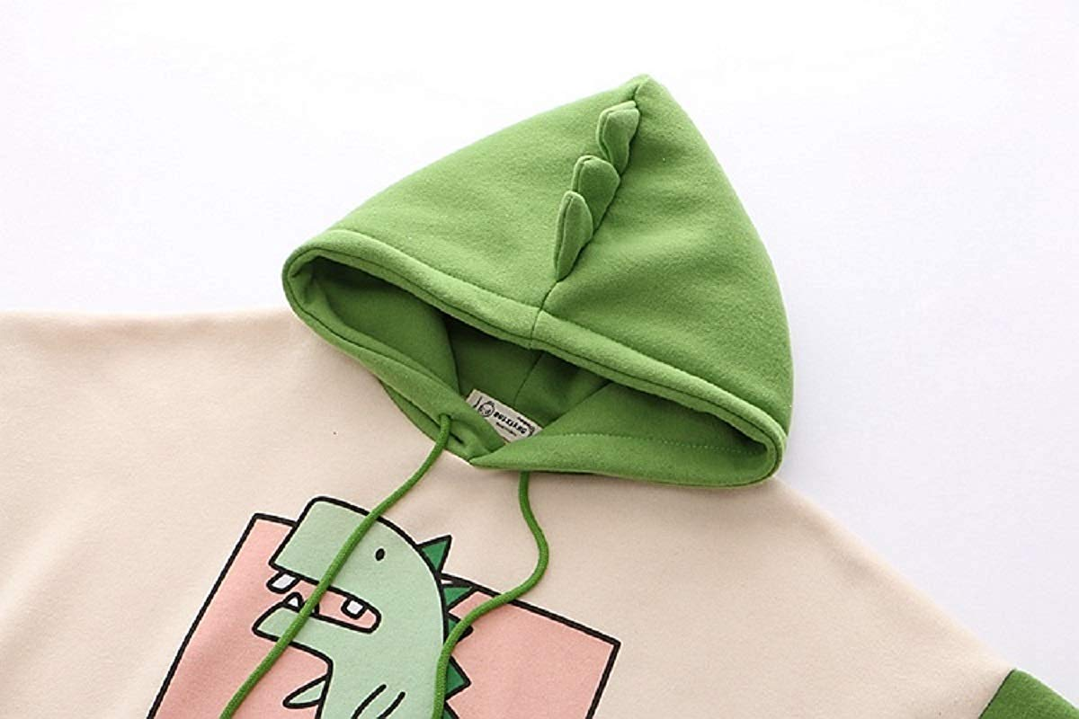 CORIRESHA Cute Cartoon Dinosaur Hoodie