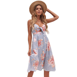 CORIRESHA Vintage Crisscross Back Cami Dress