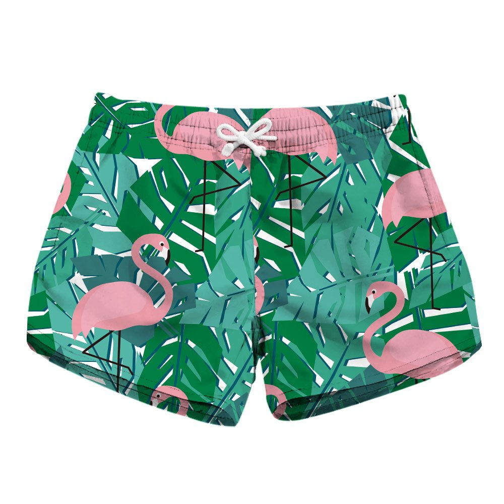 CORIRESHA Flamingo Swim Shorts