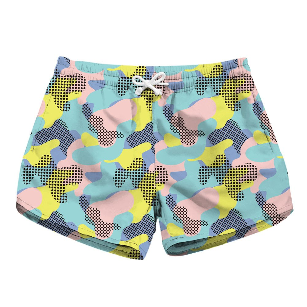 CORIRESHA Quick Dry Print Beach Shorts
