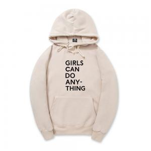 CORIRESHA Girl Power Print Slogan Hoodie