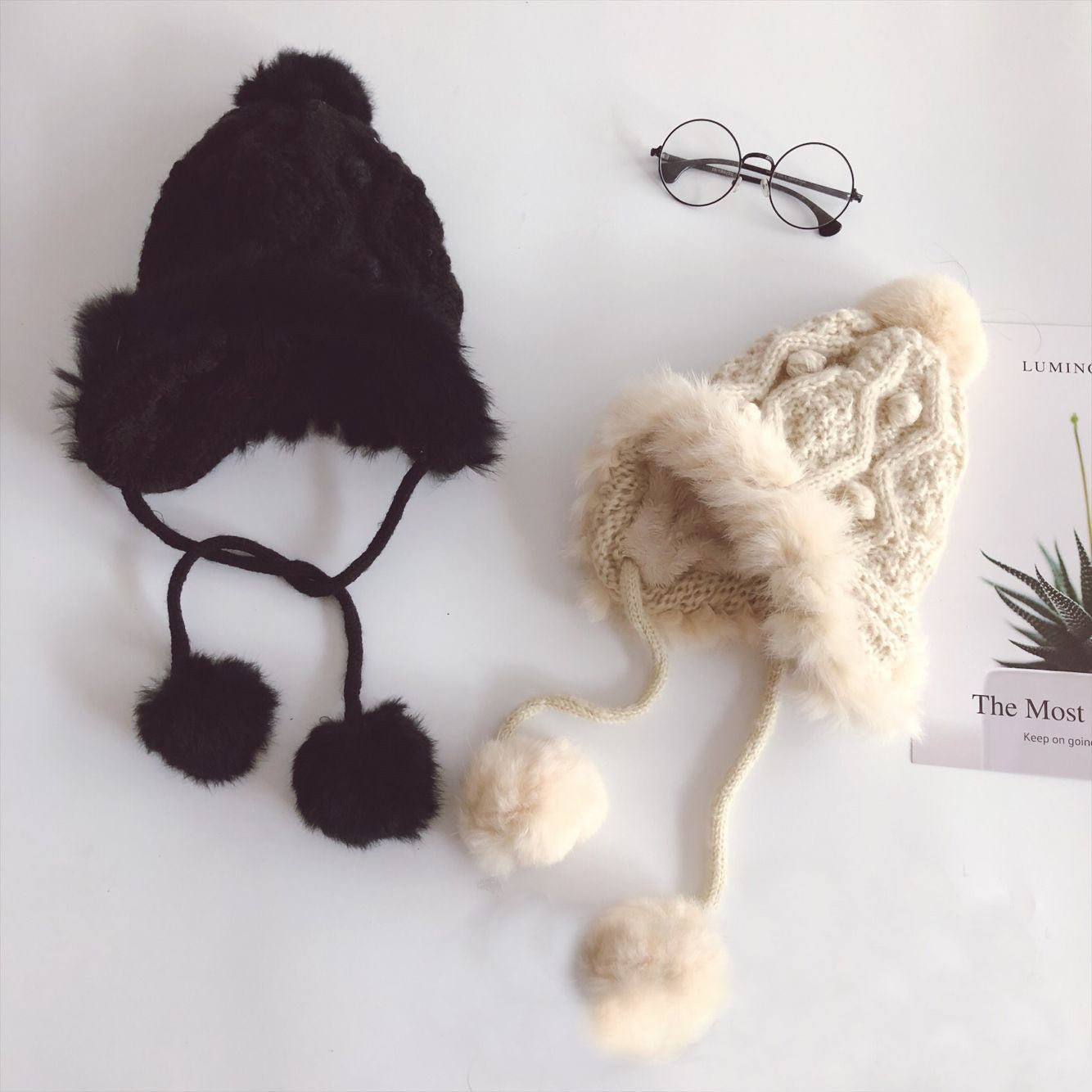 CORIRESHA Kids Stretchy Knitted Earflap Hat