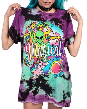 Magical and Alien T-shirt Color Block