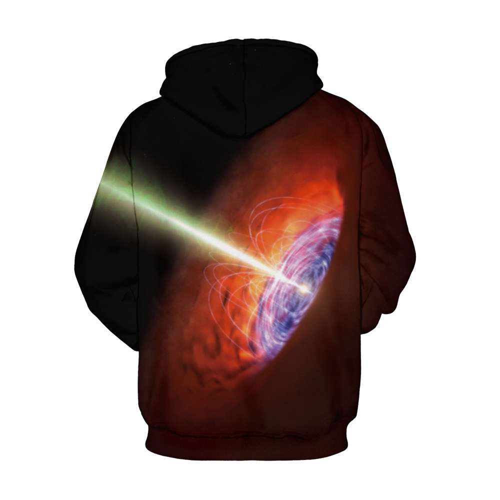 CORIRESHA Space Black Hole Hoodie