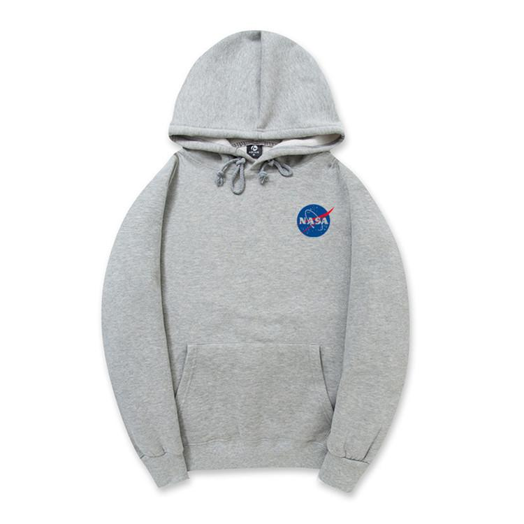 Clearance-Small NASA Logo Hoodie (5 Colors)