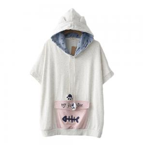 CORIRESHA Cute Hooded T-shirt