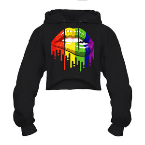 CORIRESHA Colorful Graffiti Lips Hoodie