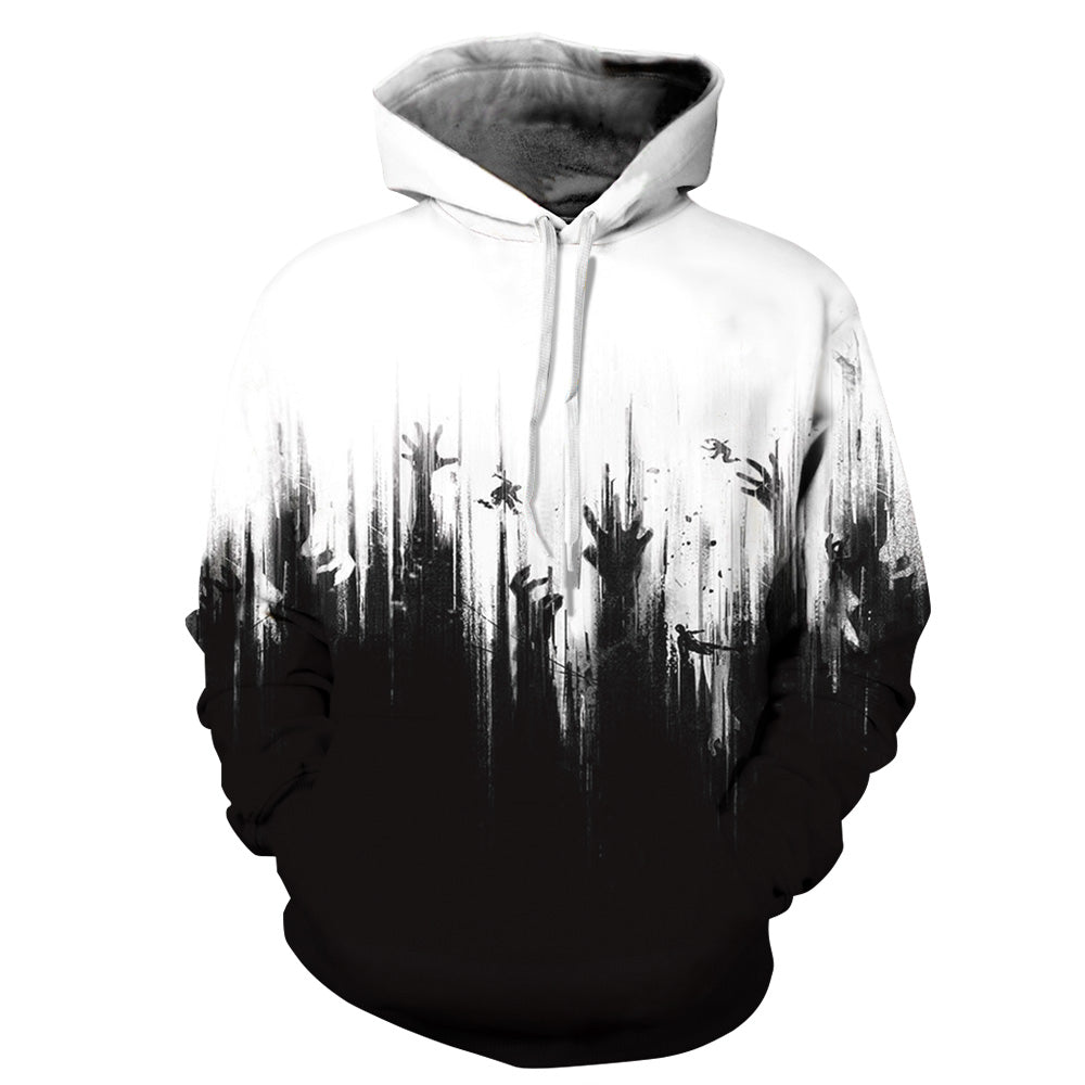 CORIRESHA Halloween Bloody Horror Print Hoodie