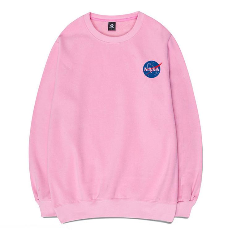 Clearance-Small NASA Logo Pullover Sweatshirt (4 Colors)