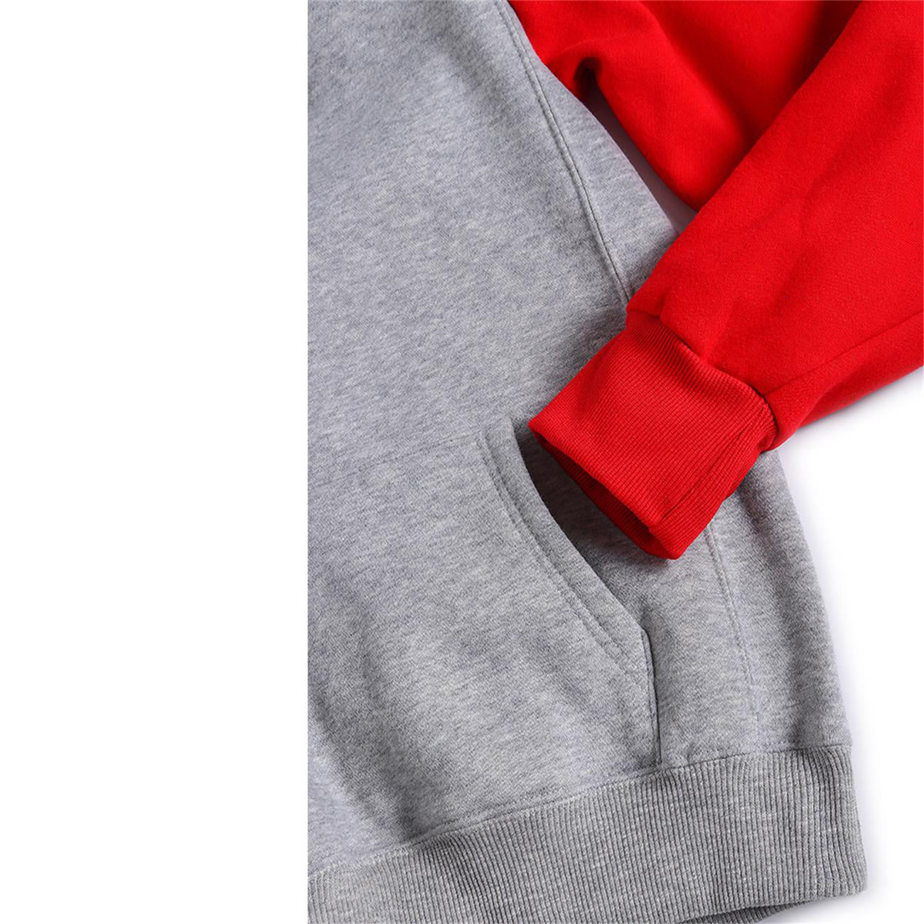 Three Colors Hoodie Gray