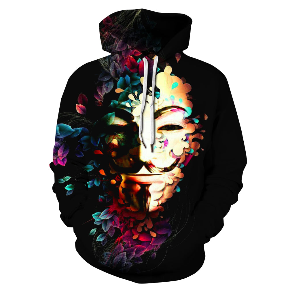 CORIRESHA V for Vendetta Print Hoodie