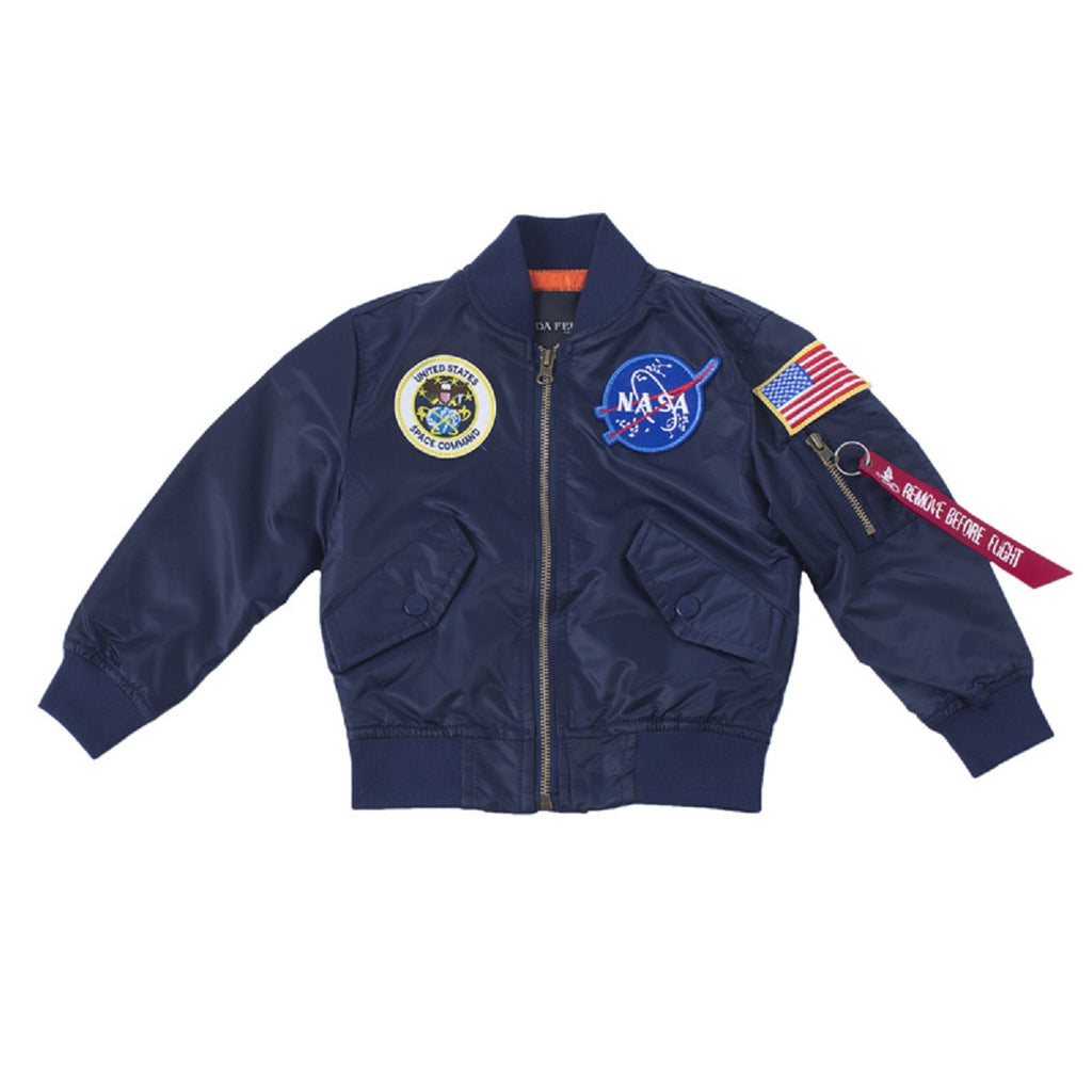 CORIRESHA Kids NASA Embroidery Jacket