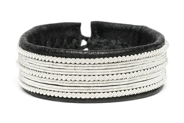 Arctic Collection Skandinaviska smycken Julevu armband tenntråd läderarmband Shop in Lapland