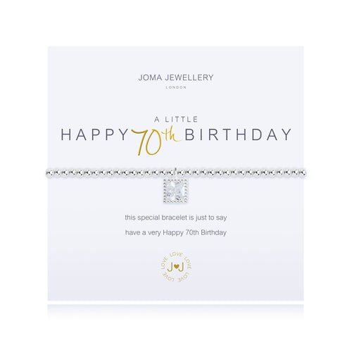 Joma Jewellery - A little Happy 70th Birthday Bracelet - Blossom Boutique Thornton