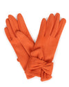 Powder UK - Henrietta Faux Suede Gloves Tangerine