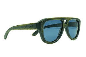 Flyer by bamb-u, Bamboo Wooden Floating Sunglasses, distressed look, aviator style, UV-400 lens, stainless steel hinge