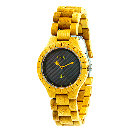 Lanta Neon Midi by bamb-u, unisex bamboo wooden watch