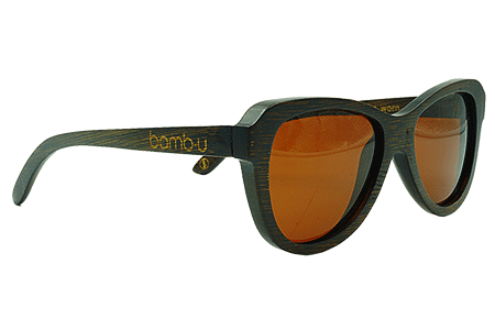 Sienna by bamb-u, Bamboo Wooden Floating Sunglasses, brown stained frame, ideal for women, brown lens, UV-400 lens, stainless steel hinges