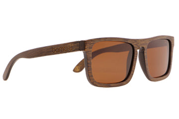 Urban Brown by bamb-u, Bamboo Wooden Floating Sunglasses, UV-400 lens, brown stained frame, stainless steel hinges