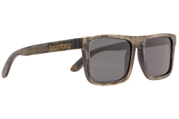 Urban sunglasses by bamb-u, Bamboo Wooden Floating Sunglasses, distressed look, UV-400 lens, stainless steel hinge