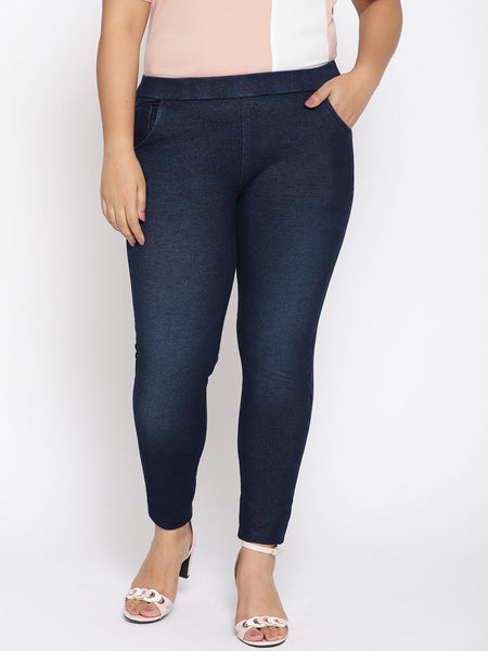 Plus Size Indigo Jeans with strech - Straight Cut