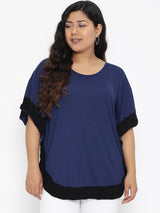 Blue kaftan top