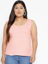 Sleeveless pink tank top