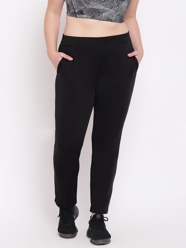 Ankle Length Black Track Pant