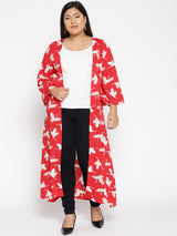 Red Flamingo long shrug