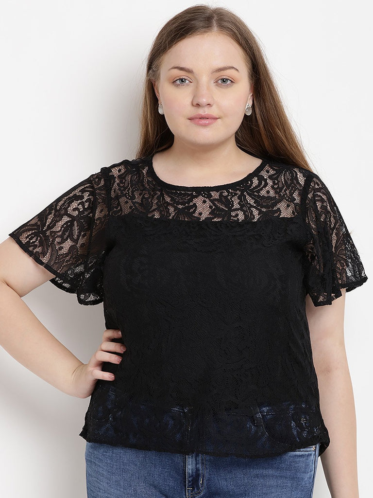 Black Lace Top