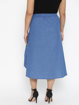 Cotton Blue A Line skirt