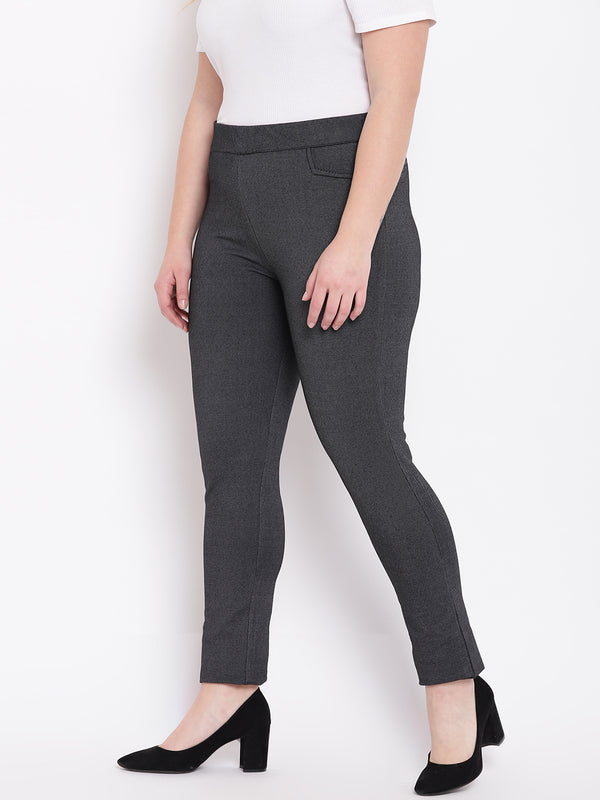 Classic Black Jeans with Elastic Waistband