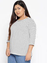 Black and white stripe t shirt