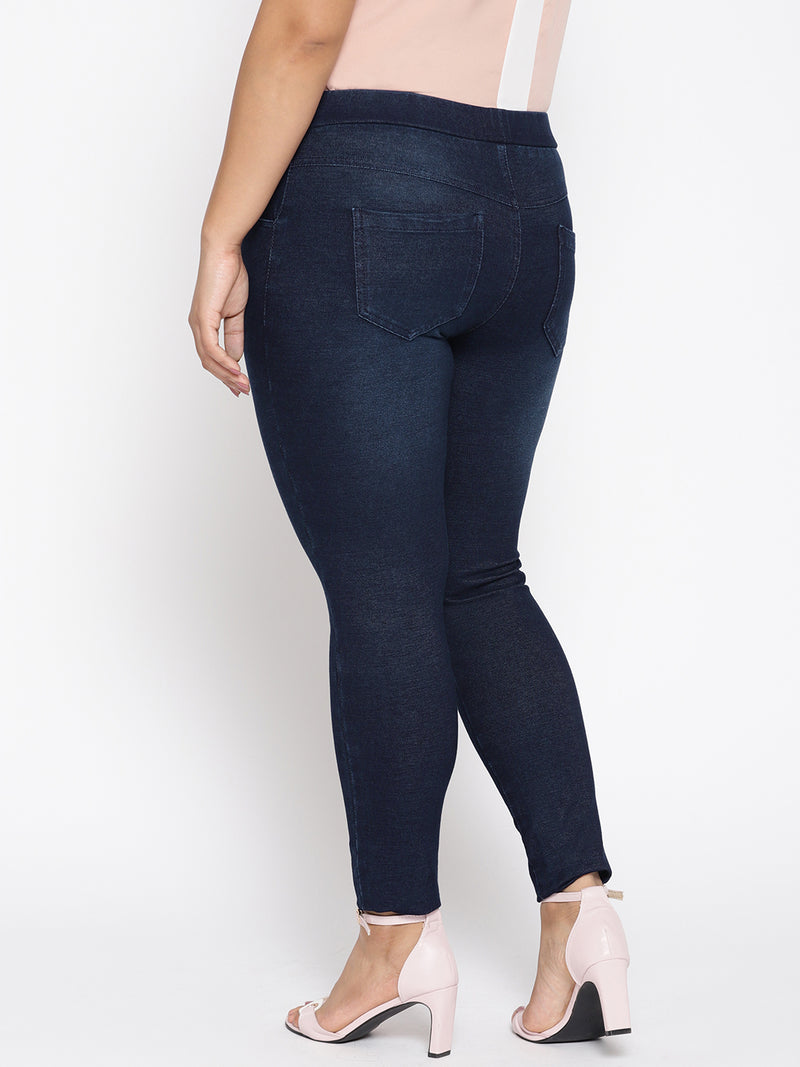 Straight cut jeans with stretch indigo