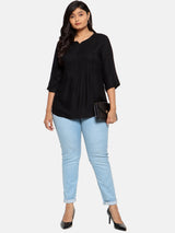 Black front pleat top