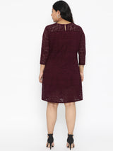 Wine Lace Dress
