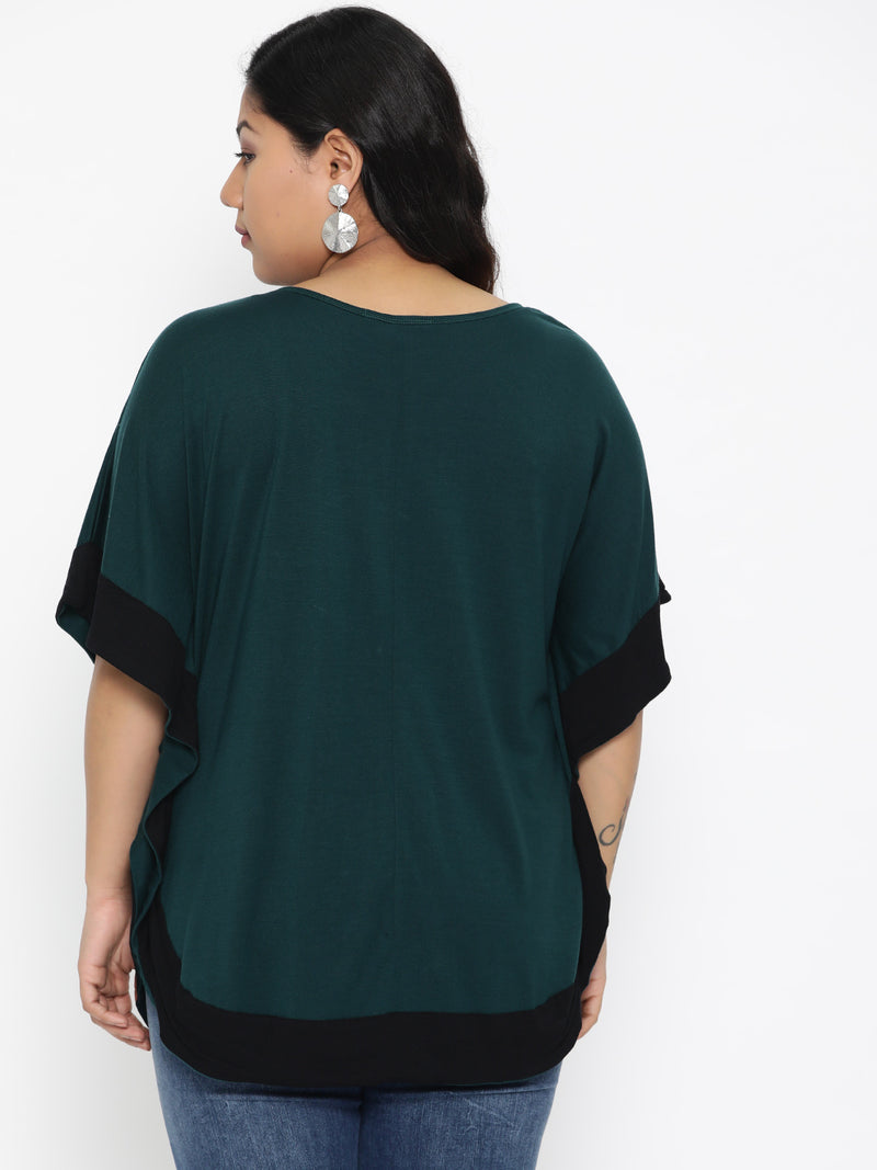 Green kaftan top