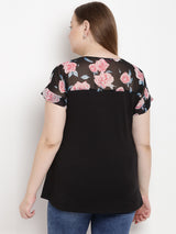 Black Rose Jersey Top