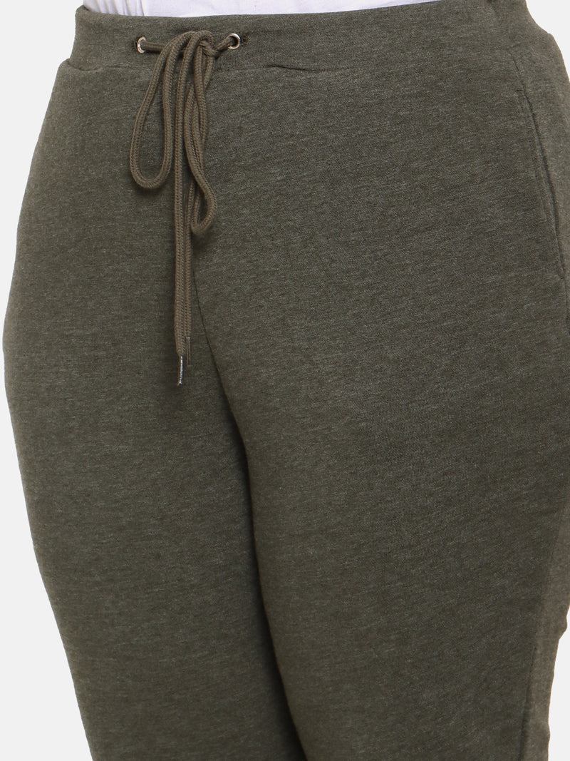 Plus size olive gree jogger