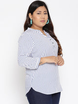 Stripe formal top
