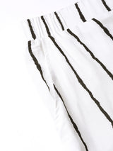 The Pink Moon Plus Size Black And White Stripe Palazzo | White Palazzo With Black Stripes | Sizes 2XL to 6XL