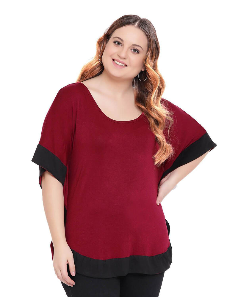 Maroon color Butterfly top