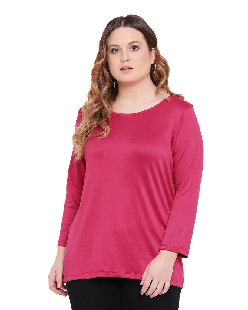 Workout Dark Pink Long Sleeves T shirt