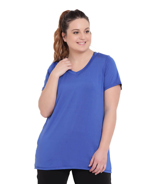 Workout v-neck cobalt t-shirt